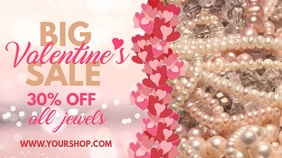 Valentines Jewelry Sale Video template Цифровой дисплей (16 : 9)