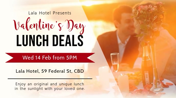 Valentines Lunch Deal Digital Display Template