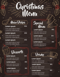 Valentines Menu,Event template,Menu template