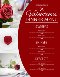 Valentines Menu Flyer (US Letter) template