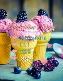 Valentines Menu Poster Template