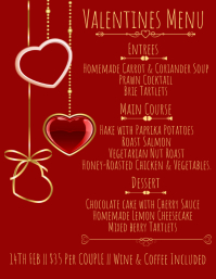 Valentines Menu Template