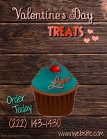 Valentines Message Flyer Template