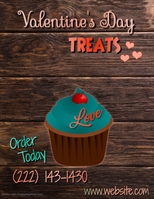 Valentines Message Flyer Template