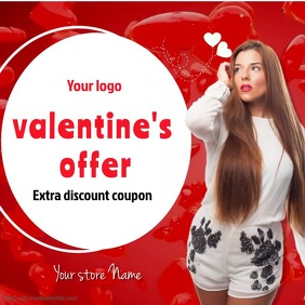 Valentines offer discount coupons