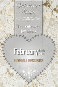 valentines or weddin lace poster
