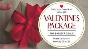 Valentines Package Deal Digital Display Template Digitale Vertoning (16:9)