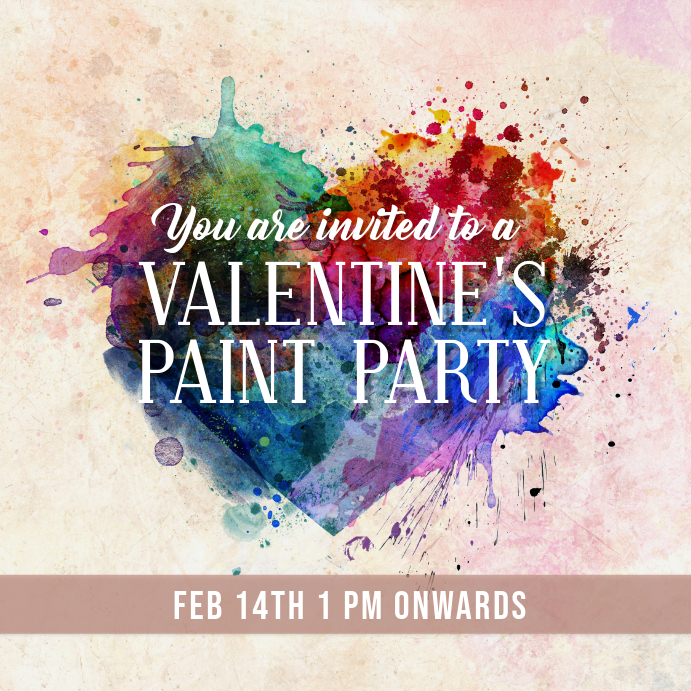 valentines paint party template