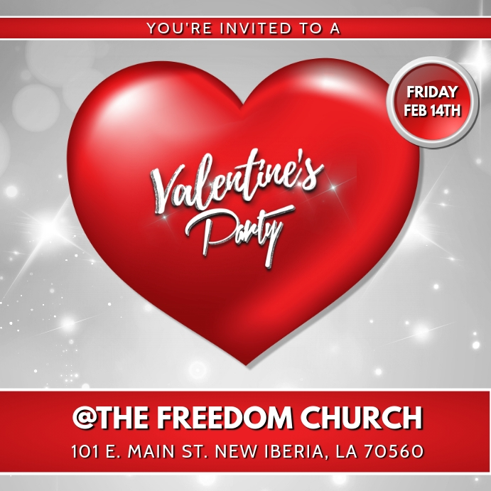 Valentines Party Church Flyer Template Postermywall