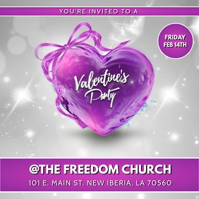 VALENTINES PARTY CHURCH FLYER TEMPLATE
