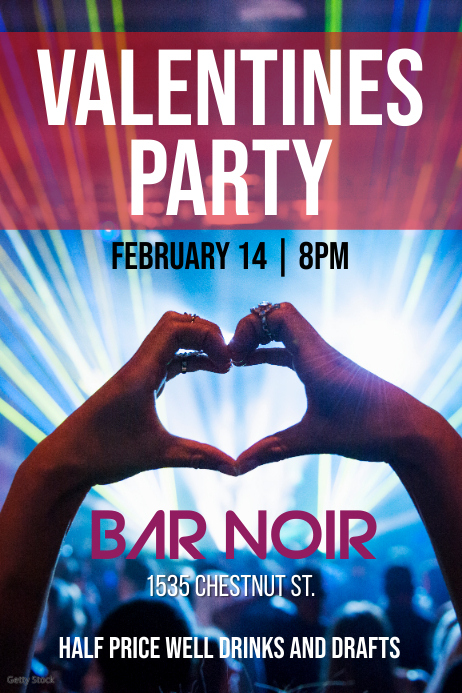 Valentines Party - club heart