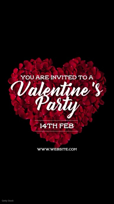 Valentines Party Instagram Story template