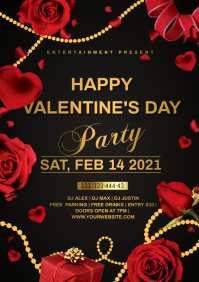 valentines party A4 template