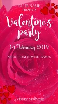 Valentines party Instagram-Story template