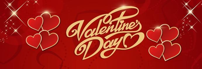 Valentines Party Banner de LinkedIn template