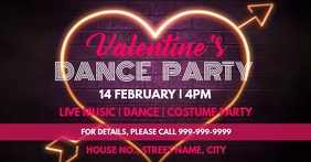 Valentines party event cover template