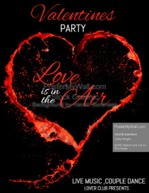 valentines party flyer,event flyer,party flyer