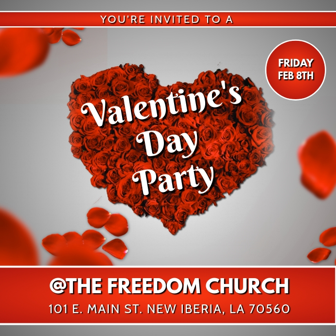 Valentines Party Flyer Template Postermywall