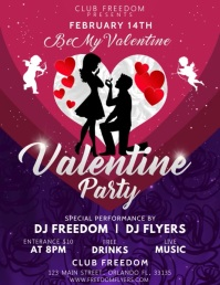 Valentines Party Flyer Video Template