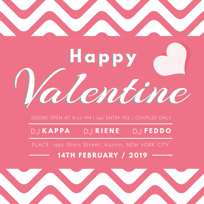 Valentines Party Instagram Post Template