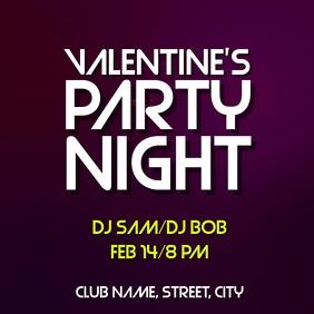 Valentines party night