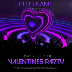 Valentines Party Night Event Video Template