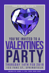 Valentines Party Poster