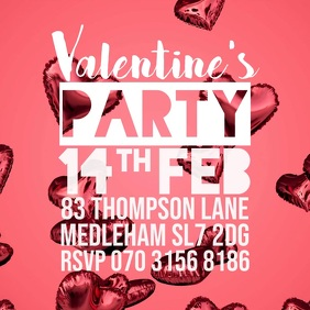 valentines party promo instagram