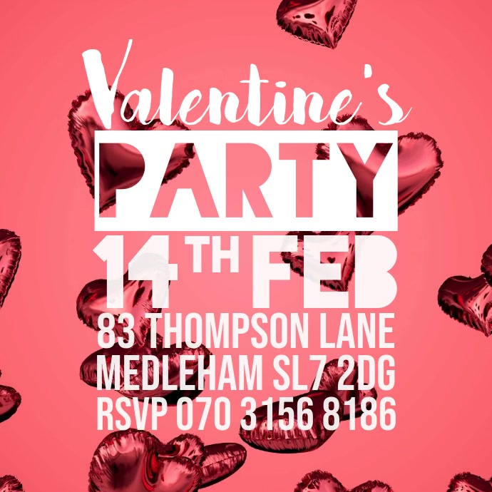 valentines party promo instagram