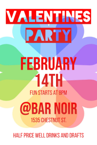 Valentines Party - Rainbow hearts