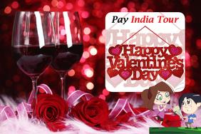 Valentines party wine glass