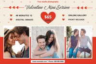 Valentines Photography Mini Session Etiket template
