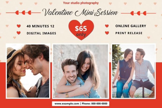 Valentines Photography Mini Session Etiket template