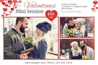 Valentines Photography Mini Session Etiqueta template