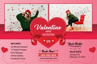 Valentines Photography Mini Session ป้าย template