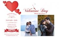 Valentines Photography Mini Session Étiquette template