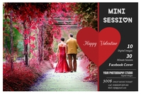 Valentines Photography Mini Session Label template