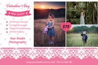 Valentines Photography Mini Session 标签 template