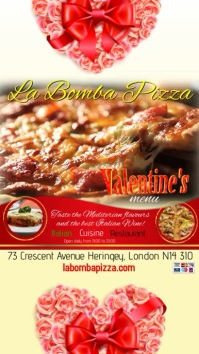 Valentines pizza menu instagram