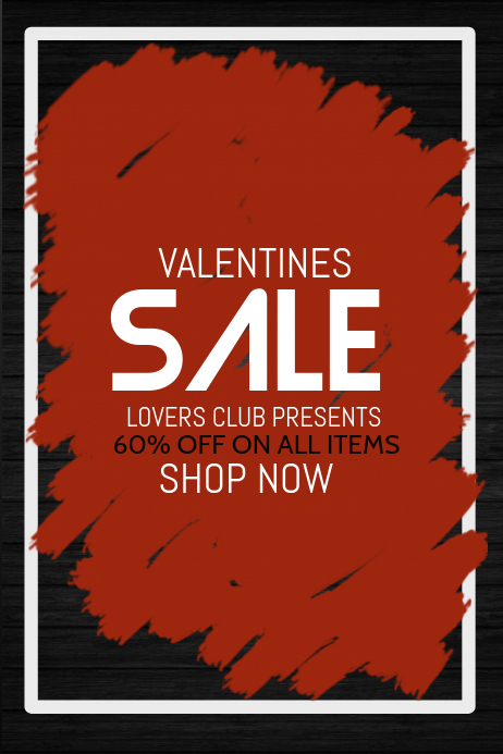 Valentines poster template,event templates