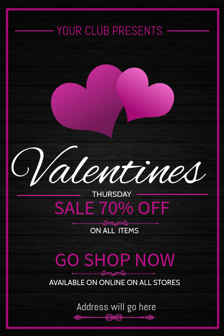 Valentines poster templates,Retail templates,Event posters