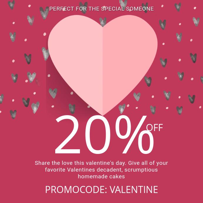 Valentines Promocode Instagram Template