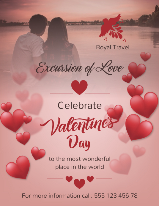 Valentines Promotion Flyer Template