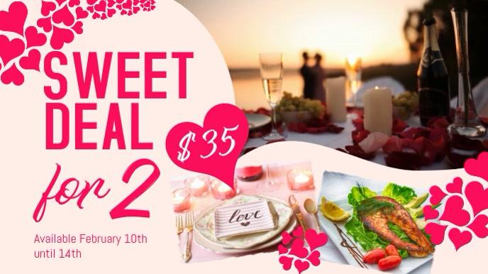 Valentines Restaurant Deal Video Template