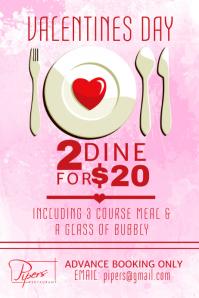 Valentines Restaurant Flyer Template