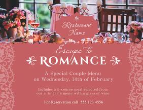 Valentines Restaurant Promo flyer Template