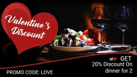 Valentines Restaurant Promo Video Template