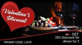 Valentines Restaurant Promo Video Template