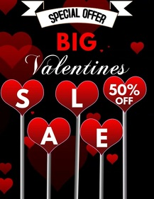 Valentines Retail Flyer