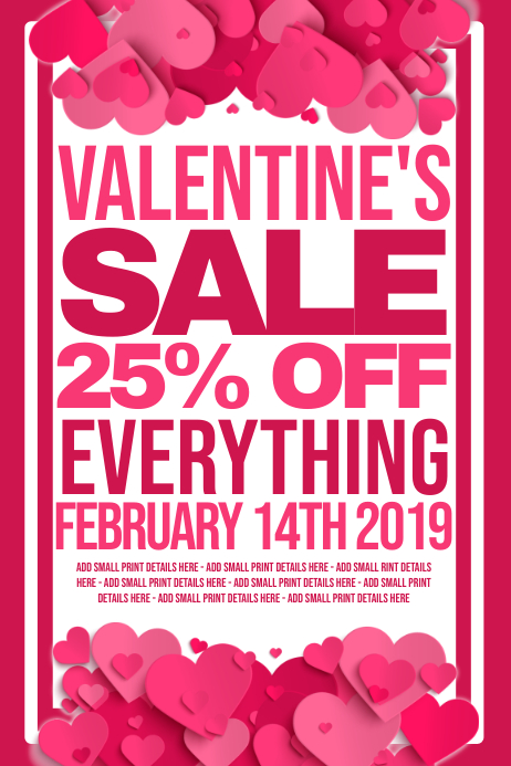 Valentines Retail Poster template